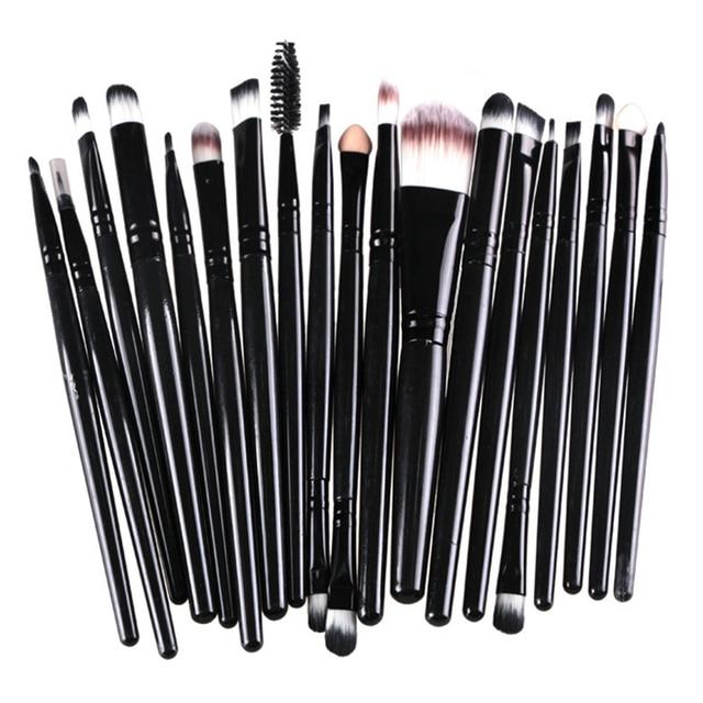 ROSALIND 20Pcs/Sets 2017 New Eye Shadow Foundation Eyebrow Lip Brush Makeup Brushes Tool