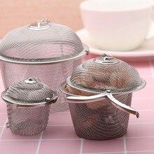 3 Sizes Stainless Steel Tea Infuser Soup Taste Spice Box Basket Brine Hot Pot Slag Separation Colander Strainers Cooking Tools
