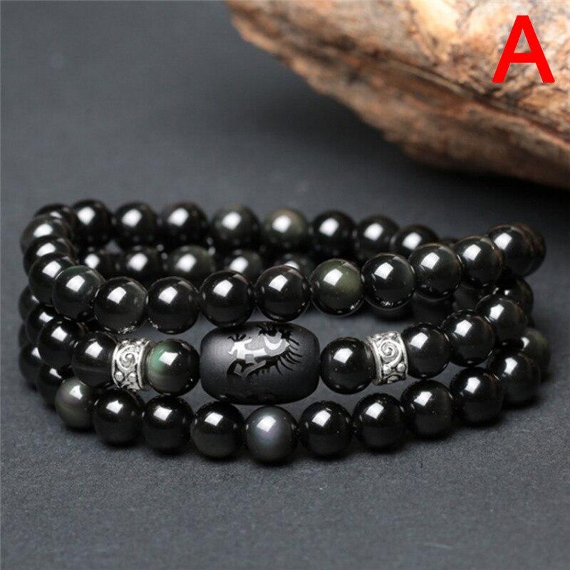 Bracelet de perte de poids en pierre naturelle de soins sains mode femmes hommes perles de cristal bijoux Anti fatigue minceur