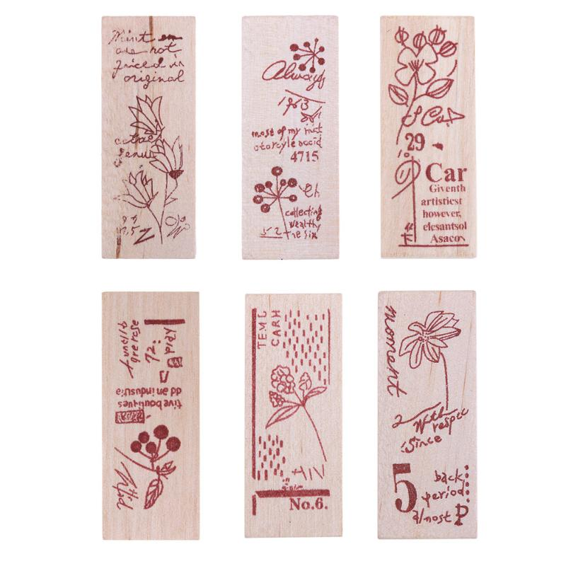 Plant Letter Pattern Wood Rubber Stamps Craft Stamp for Scrapbooking Decorating Craft Album Paper Card Decorating Stamps Gift details about east of india rubber stamps christmas weddings gift tags special occasions craft