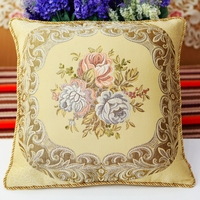 Gold silk embroidery office european style pillow cover cushion cover sofa cushion cover Home Decorative Housewarming Gift