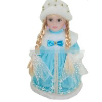 30cm winter blue sky baby girl dress Russian traditional girl doll frozen queen porcelain doll simulation ceramic dolls