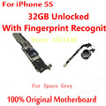 Para iphone 5s mainboard 32 gb versão desbloqueado motherboard com touch id de alta qualidade 100% original oficial para o espaço cinza