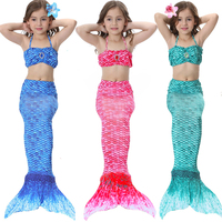 Sinomart 2017 3pcs Girl S Mermaid Tail Dress Cosplay Costume Fashion Multicolor Children Mermaid Swimsuit Princess