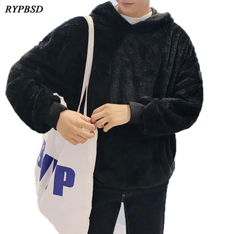 Winter Sweatshirt Men Hoodie Coat Plus Velvet Hooded Hoodies Thick Tracksuit Casual Warm Mens Hoodie Hooded Sweatshirt