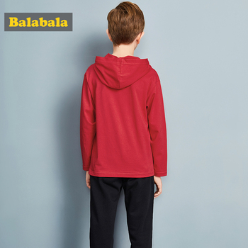 Balabala tracksuit for boys hooded coat spring boys clothes fashion children clothing set Teens sports Long Sleeve Sets For Boys 2