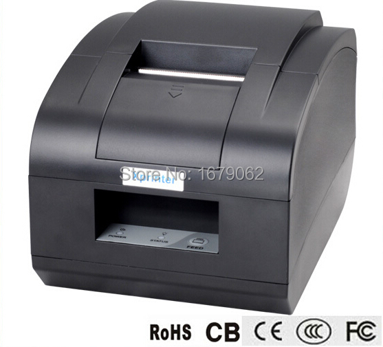 XP-C58N Black USB port 2' 58mm thermal receipt/mini/pos printer auto cutter 58mm auto cutter printer Receipt printer Xprinter zj 5890k mini 58mm black and white printer pos receipt thermal printer built in power light with usb port power interface