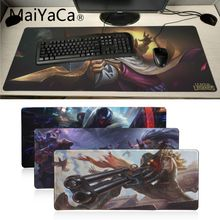 MaiYaCa New Design league of legend jhin Customized laptop Gaming mouse pad Speed/Control Version Large Gamer Mouse Pad for dota