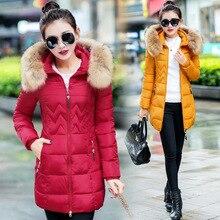 2016 Long Fund Down Cotton Woman Tide Slinm Thin Thickening Winter Korean Heavy Seta Lead big