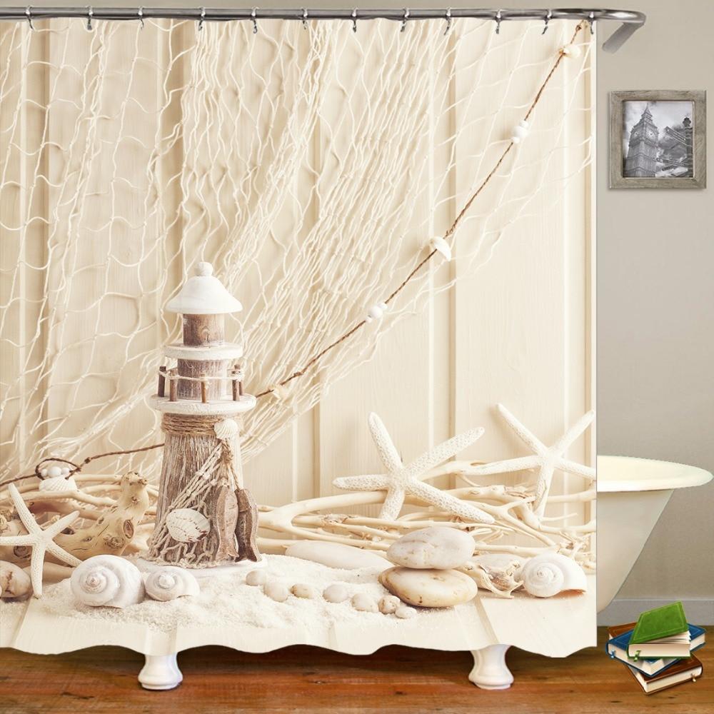 Novelty Ocean Beach Starfish Lampstand Seashell Shower