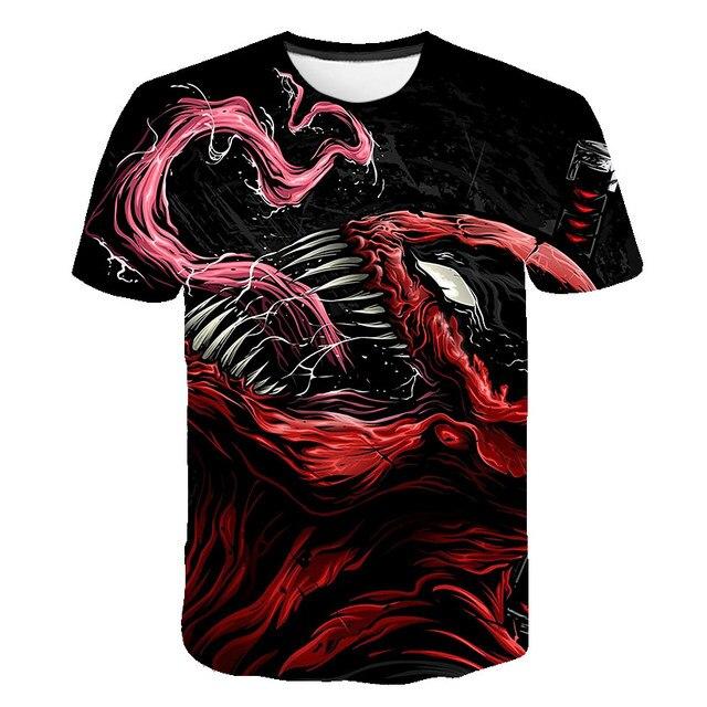 BIAOLUN 2019 Marvel Venom Spiderman T camisa Homens Novos t-shirt 3D Impresso Camisetas Camisa Aptidão T Shirt T-shirt Dos Homens Casuais topos