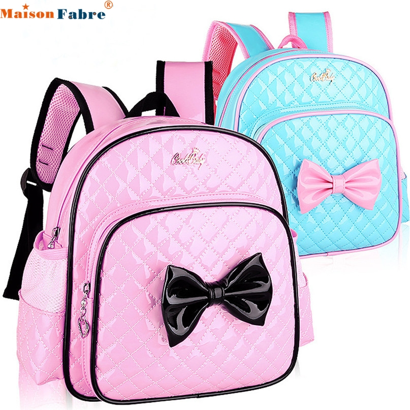 MAFA 2018 NEW Backpacks Baby Kids Girls Bowknot Print Backpack School Bags Fashion Shoulder Bag drop ship m13