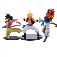 18cm - 23cm Dragon Ball Super Saiyan 4 Gogeta Vegeta goku PVC Action Figure Toy Dragon Ball z figure colosseum
