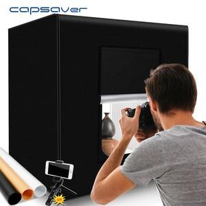 Image 1 - Capsaver M60II 접는 사진 상자 스튜디오 사진 라이트 텐트 60cm Softbox 48W CRI92 라이트 박스 보석 장난감 제품 촬영