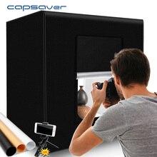 Capsaver M60II katlanır fotoğraf kutusu stüdyo fotoğrafçılığı ışık çadır 60cm Softbox 48W CRI92 ışık kutusu takı oyuncak ürün çekim
