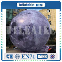 inflatable moon ball Artificial simulation included LED Light, air pump, use for Big Party,festival celebra