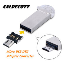 Caldecott Mini adaptador USB Flash Disk U DM Micro Adaptador USB OTG macho para USB 2.0 Micro Adaptador Conversor Para Tablet Pc USB teclado(China)