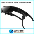IVS V100 98 inch 1080P FPV video Glasses with video 3D glasses active virtual FPV video goggles