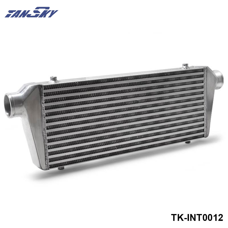 TANSKY - 550x230x65mm 2.5''(63mm) I/O Turbo Inter Cooler Turbo Racing Front Mount BAR&PLATE Aluminum Intercooler TK-INT0012 epman universal aluminum water to air turbo intercooler front mount 250 x 220 x 115mm inlet outlet 3 5 ep sl5046d