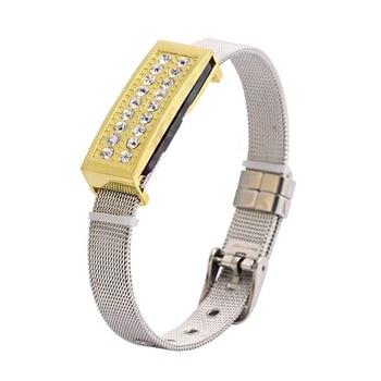 Gold Bracelet Mini USB Stick Pen Drive 1TB 2TB Luxury Diamond Gift Pendrive 128gb 16gb 32gb 64gb Jewelry Usb Flash Drive Gadget