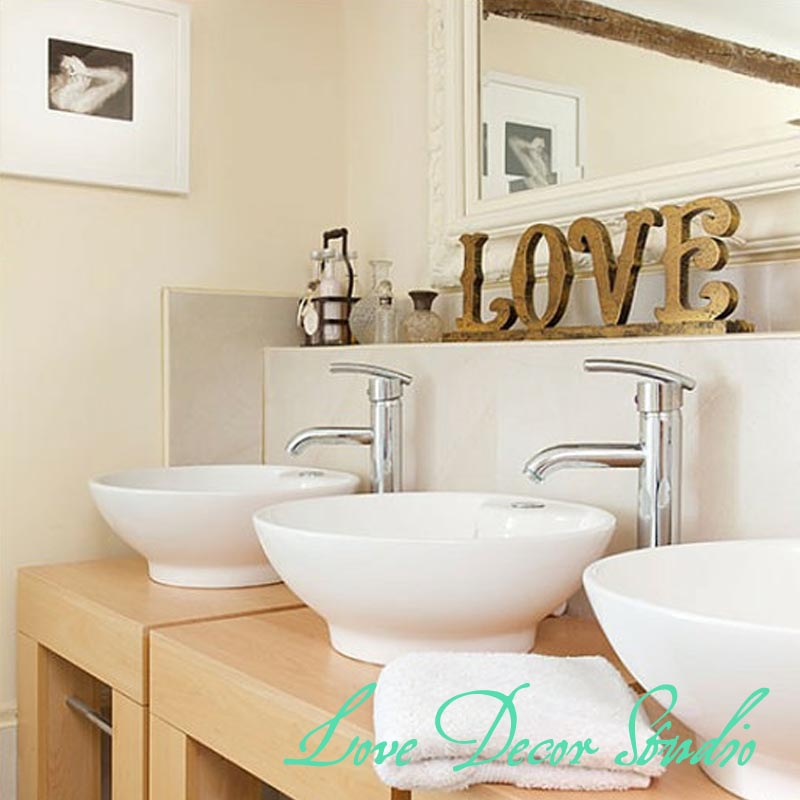 Aliexpress Com Buy Home Decor Love Sign Made Of Wood Gold Silver Glittered Freestanding Love Sign Modern Decor From Reliable Love Decoration