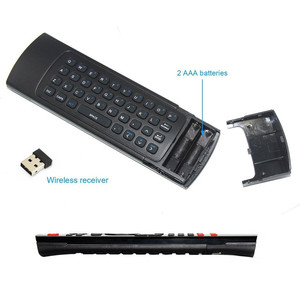 Image 4 - 2.4GHz Wireless Remote Control Fly Air Mouse Wireless Qwerty Keyboard for Smart TV Android TV box KODI XBMC MXQ MX3 M8S+T8 QBox