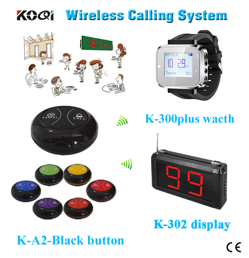 HOT sales restaurant table calling bell wristwatches for waiter pager|pager call|pager for salewaiter pagers - title=