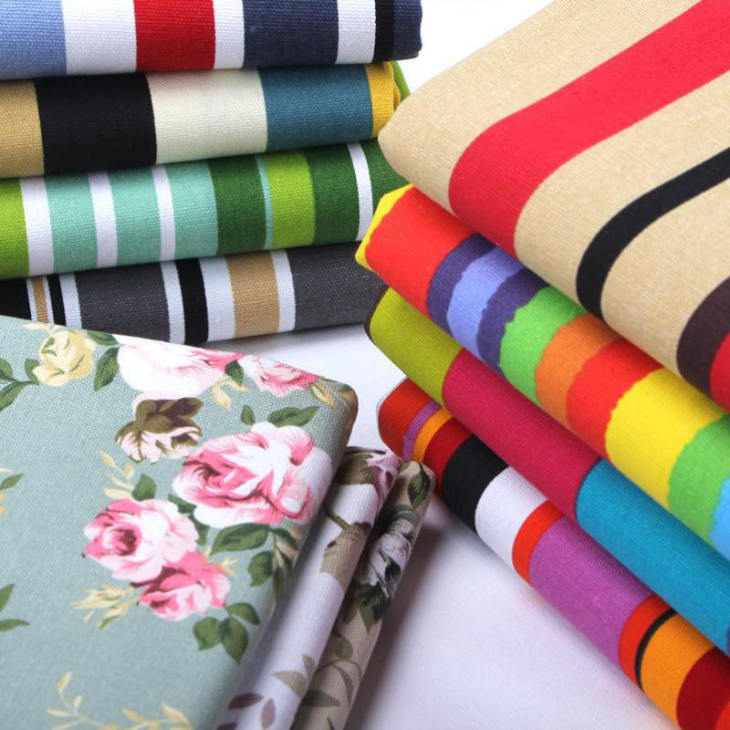 50x145cm Horizontal Striped Canvas Fabric For Curtains