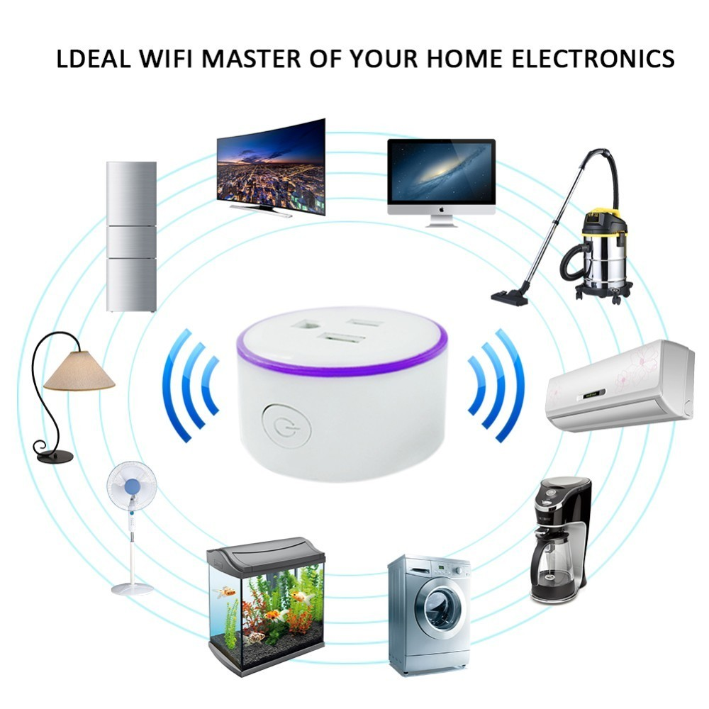 Ai Scene Light Timing Remote Control Wifi Smart Socket Us Plug Or Rondaful Motion Led Wiring Diagram Japan With Colorful Lights Wireless Controls In Power