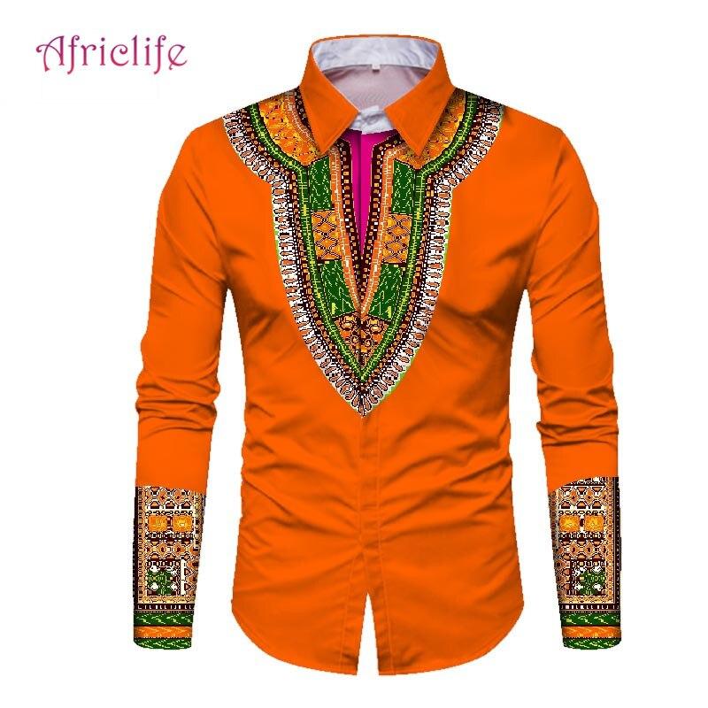 2019 nouveaux hommes africains mode dashiki conception impression chemise vêtements pour hommes personnalisé africain dashiki hommes vêtements WYN352