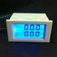 Ampere Meter Panel Voltaje Digital Del Voltímetro Del Amperímetro DC 2 V 20 V 200 V 600 V Corriente Gauge Con LCD azul Dual Display Backlight