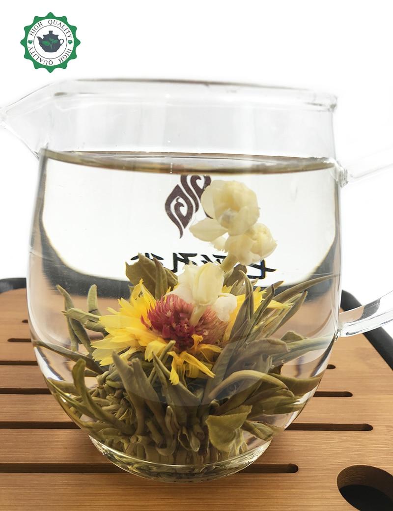 Chinese flower tea - Handmade Blooming Flower Tea Ball Blooming Chinese Flower Tea Artistic Tea Gift Dried Flower Tea Health