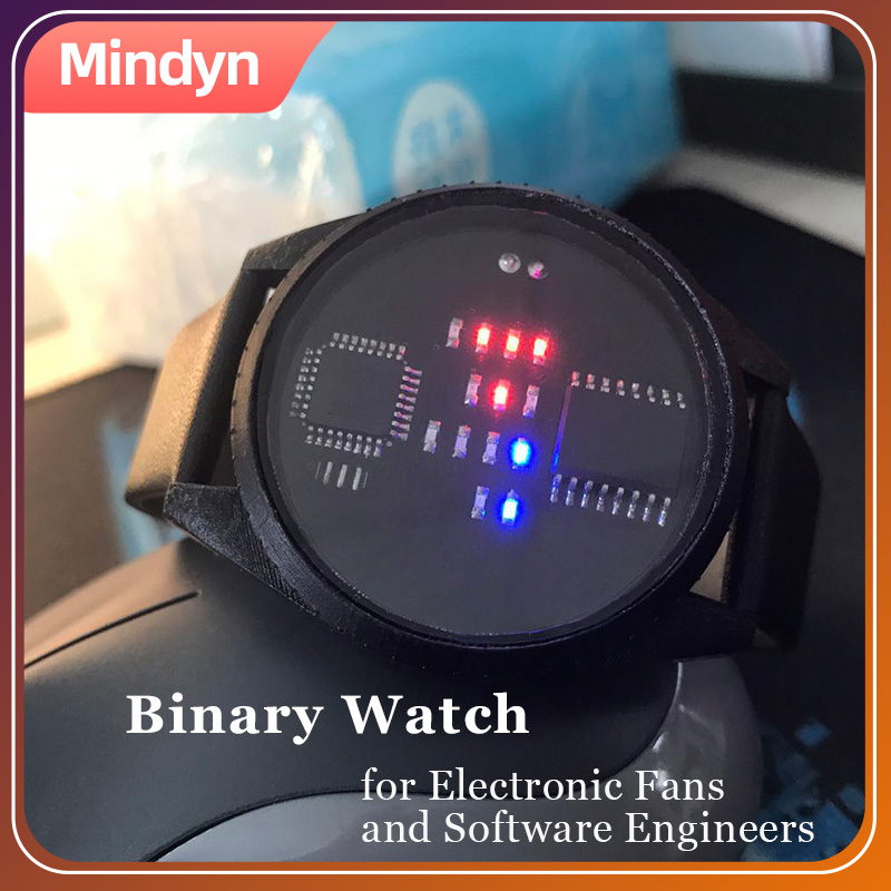 Binary Watch With LED Display DIY Handmade Fashionable And Special Gift For Electronics Fans Software Engineers