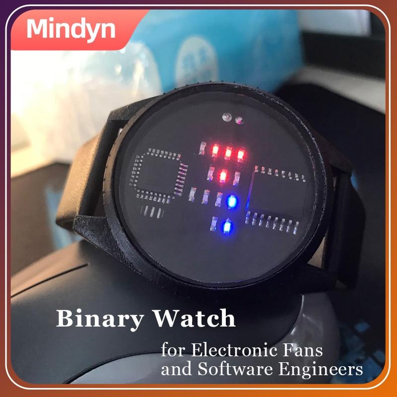 Binary Watch with LED display 1