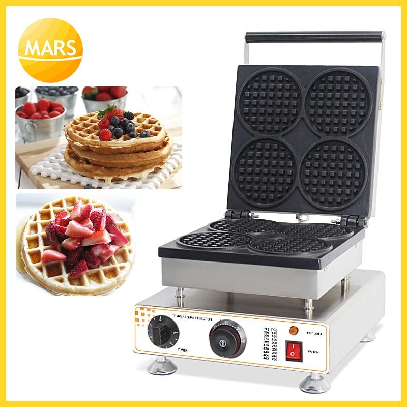 MARS Commercial Use 110v 220v Belgian Waffle Maker Iron