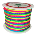 2mm Rainbow Twisted Satin Nylon Twine Cord+50m/roll Jewelry Accessories Macrame Rope Shamballa Bracelet Necklace String
