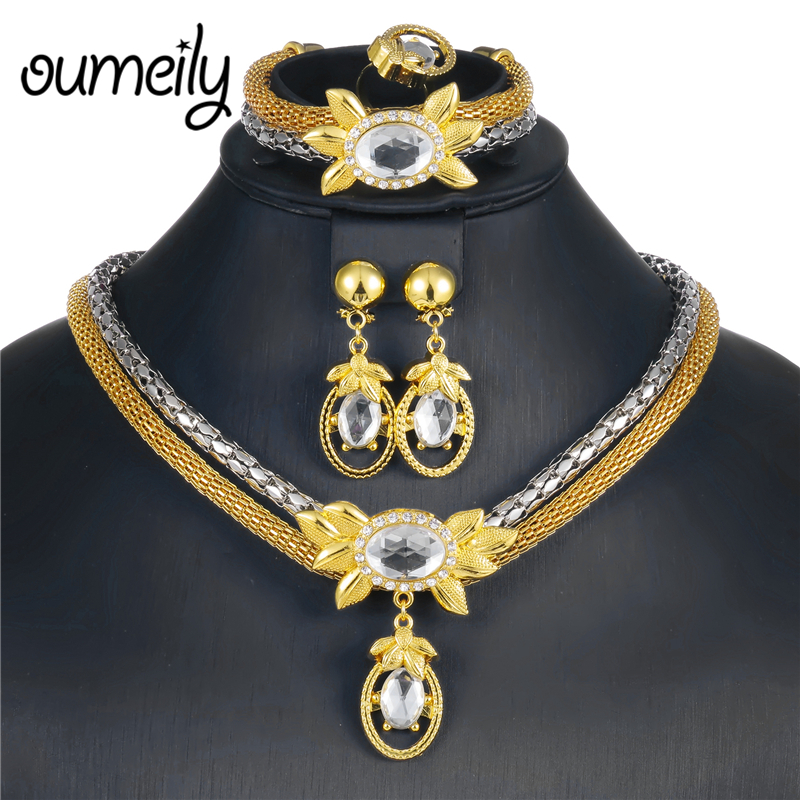 OUMEILY Egyptian Costume Jewelry Ethiopian Wedding Jewelry Sets