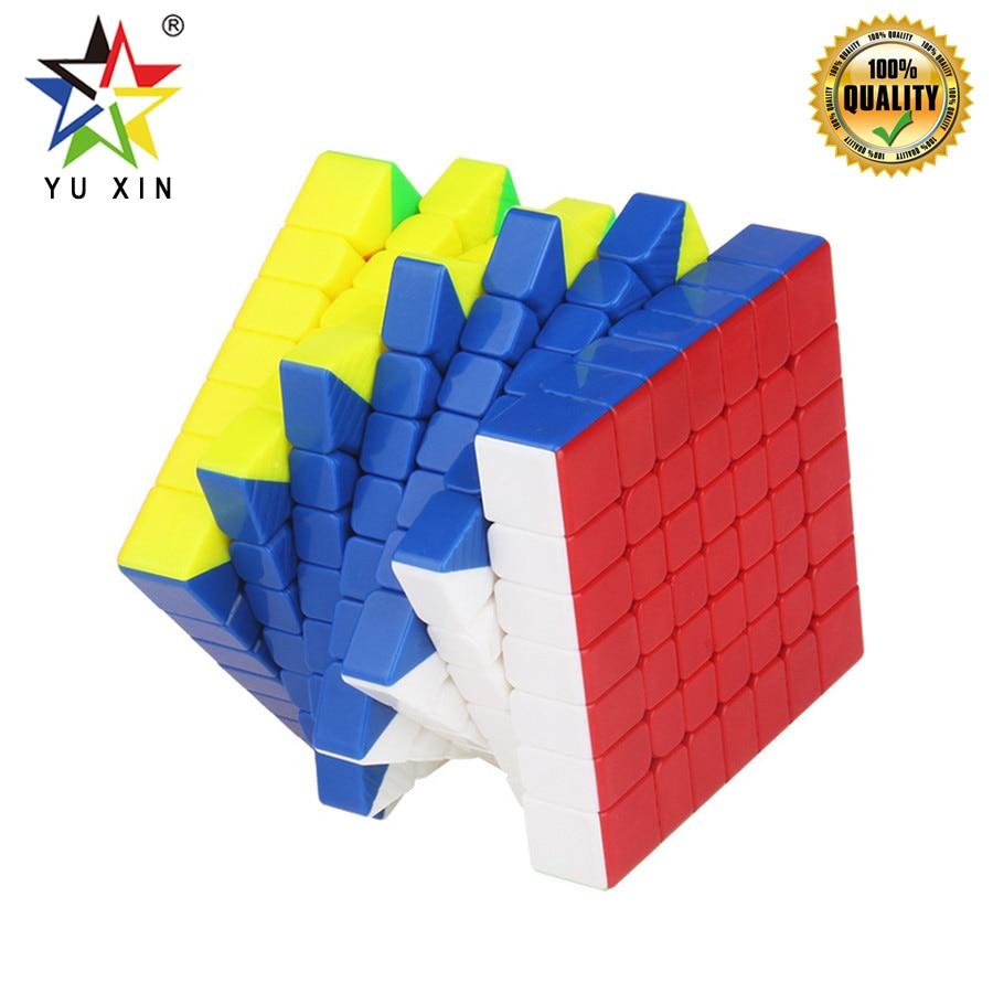 2019 YUXIN Vitesse Cube 7x7x7 Concurrence 67.5mm Cube Magique Magnétique Twist Puzzle Jouets Pour Enfants cadeau cubes de puzzle Cubo Magico