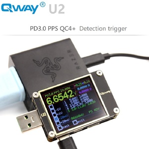 Image 3 - Qway U2p التيار والجهد متر USB تستر QC4 + PD3.0 2.0PPS سرعة تهمة بروتوكول السعة