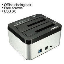 SEATAY 2.5″ 3.5″ USB 3.0 Dual SATA HDD Enclosure Caddy Case Hard Drive Disk HDD Dock Docking Station Offline Cloning