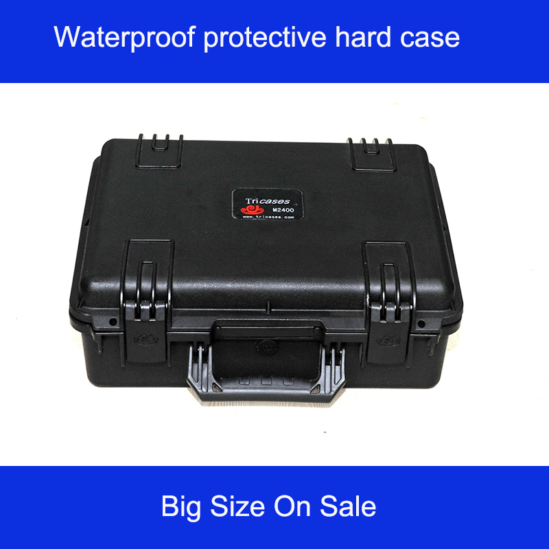 high quality protective Tool case toolbox waterproof equipment case tool box with pre-cut Foam 462*334*170mm shipping free цена
