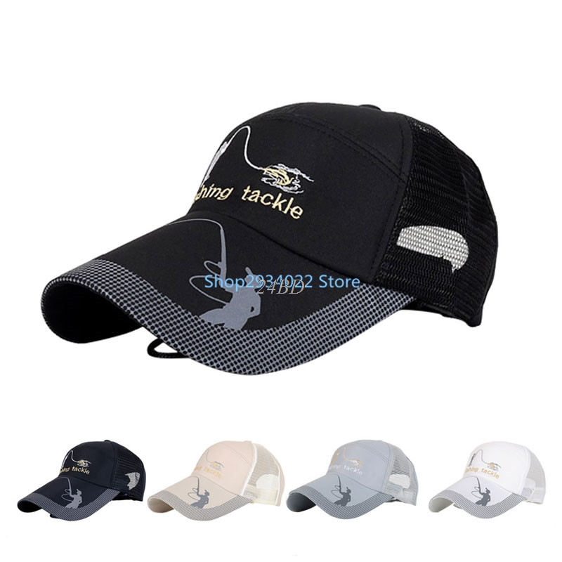 Summer Golf Baseball Mesh Cap Adjustable Sports Sun Visor Hat Unisex fishing Cap M08