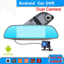 "7 ""Touch Special Car DVR Camera Mirror GPS Supported 32GB Android 4.4 Dual Lens FHD 1080P Video Recorder Dash Cam for Universal"