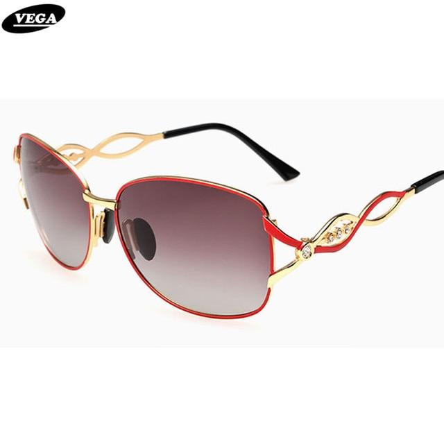 d06192daa6 VEGA Fashion Ladies Polarized Oval Rhinestone Sunglasses Top Rated Novelty  Brand Designer Sunglass Women Stunner Shades
