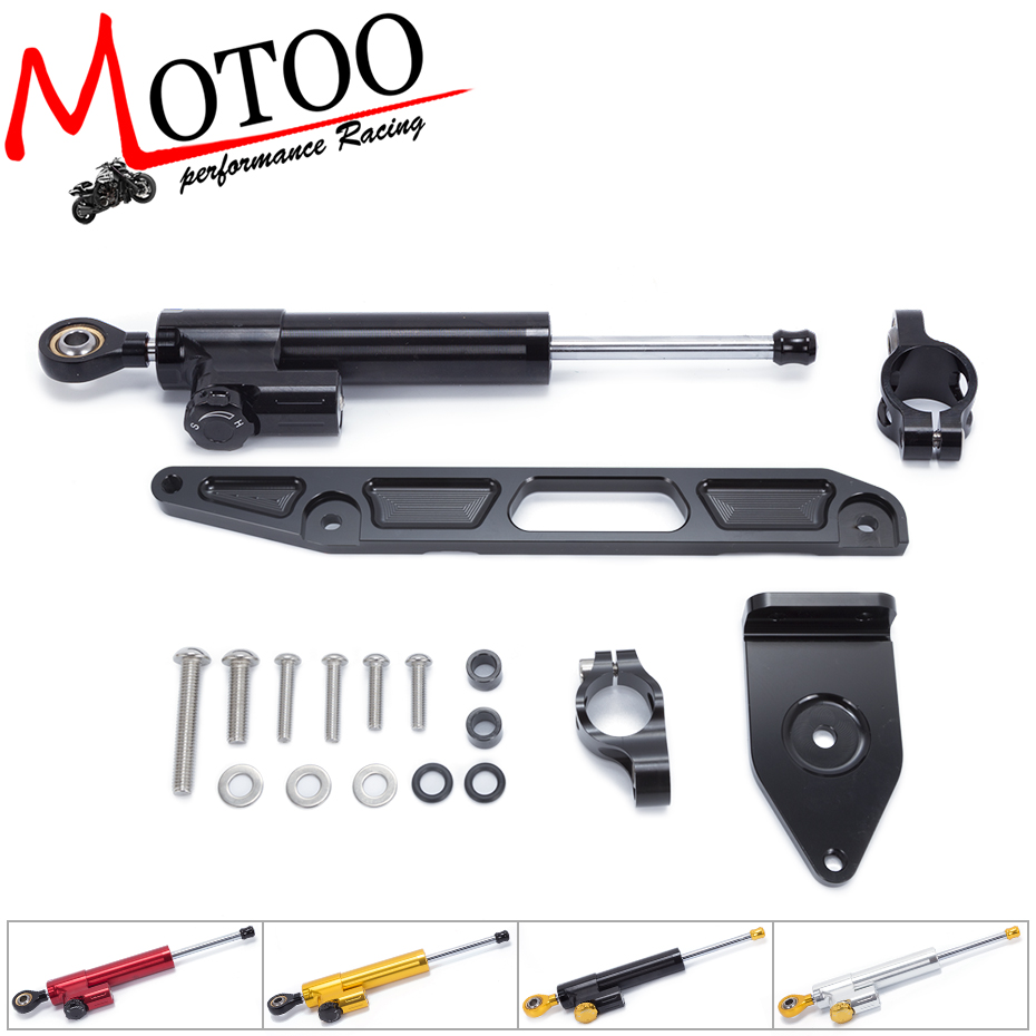 Motoo - FREE SHIPPING For YAMAHA XJR1300 2002-2015 Motorcycle Aluminum Steering Stabilizer linear Damper Mounting Bracket Kit fxcnc aluminum motorcycle steering stabilizer damper mounting bracket support kit for yamaha fz1 fazer 2006 2015 2007 2008 09