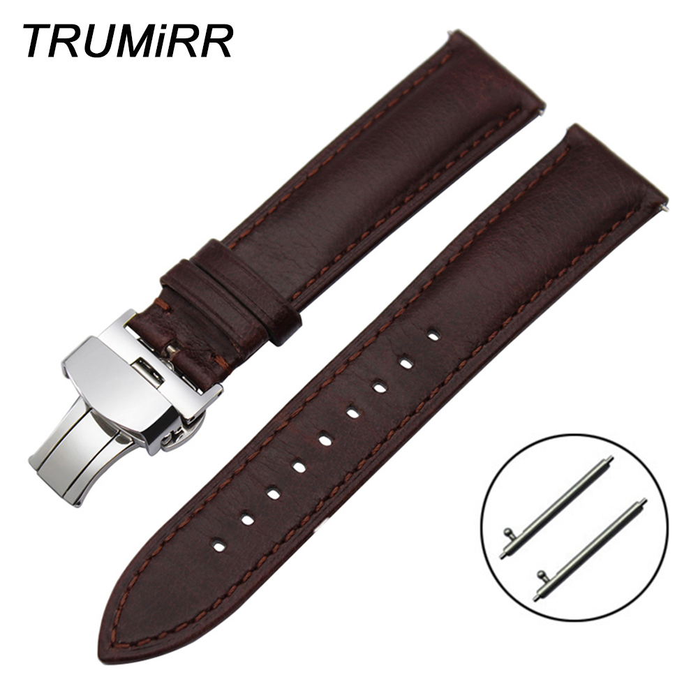 Imported Calf Genuine Leather Watchband 18mm 20mm 22mm for Tissot Longines Mido Luminox Quick Release Pin Watch Band Wrist Strap image