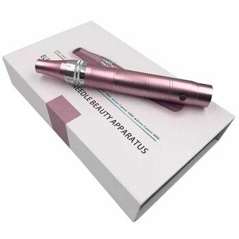 Decriniee 전기 마이크로 바늘 펜 전문 무선 전기 스킨 케어 키트 도구 microblading 바늘 문신 총 도구 펜