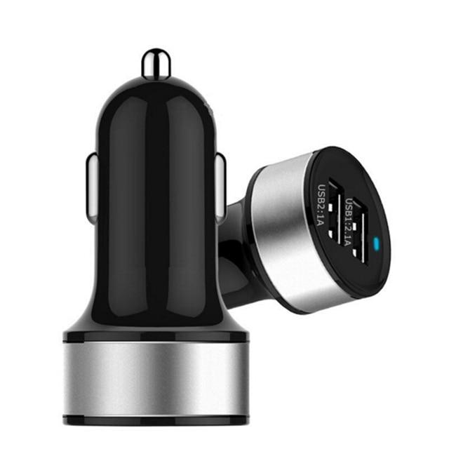 Cargador de coche de 5 V 2.1A 1A de puerto USB Dual de protección de disyuntor inteligente Universal de alta calidad para móvil teléfonos móviles Tablet PC