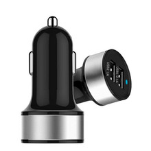 High Quality Universal Smart Fuse Circuit-Breaker Protection Dual USB Port 5V 2.1A 1A Car Charger For Mobile Phones Tablet PC(China)