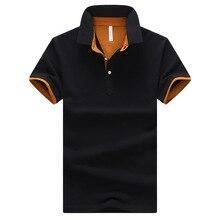 Классический стиль летнее одноцветное поло рубашки мужские хлопковые дышащие короткий рукав Повседневное Мода Большой Размеры футболка-поло